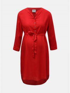 Červená těhotenská halenka s prodlouženou délkou Mama.licious Mercy