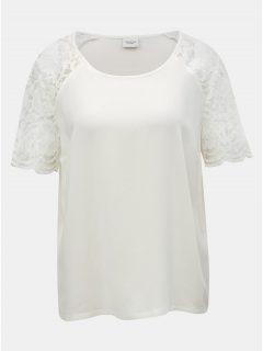 Bílá halenka s krajkovými rukávy Jacqueline de Yong