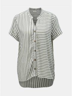 Bílo-šedá pruhovaná halenka Jacqueline de Yong Karla