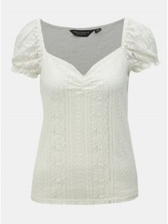 Bílá krajková halenka Dorothy Perkins