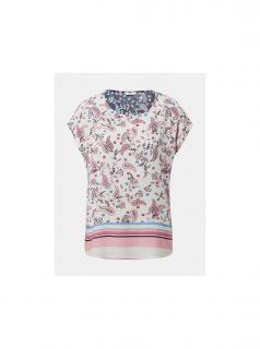 Růžovo-bílá dámská vzorovaná halenka Tom Tailor