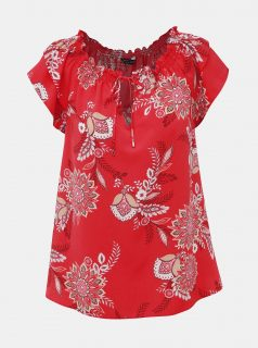 Červená květovaná halenka Dorothy Perkins