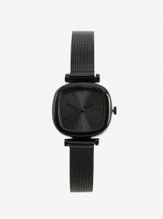 Černé dámské hodinky s nerezovým páskem Komono Moneypenny Royale