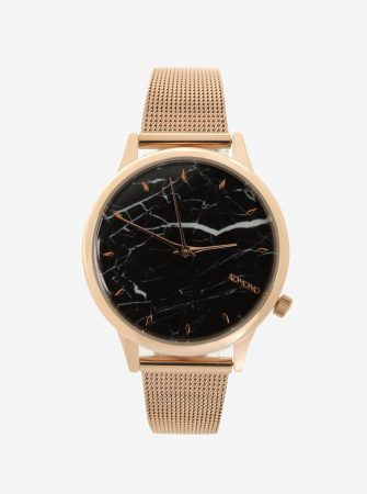 Dámské hodinky v růžovozlaté barvě s kovovým páskem Komono Estelle Royale 6bb6b65108