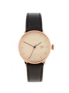 Dámské hodinky s černým páskem z veganské kůže CHPO Khorshid Mini Ros
