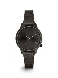 Dámské hodinky s černým kovovým páskem Komono Estelle Royale