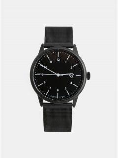 Unisex hodinky s černým kovovým páskem CHPO Rawiya Noir