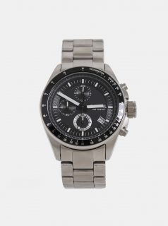 Pánské hodinky ve stříbrné barvě Fossil Decker
