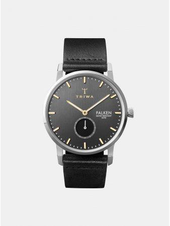 Pánské hodinky s černým koženým páskem TRIWA Smoky Falken - Hodinky a9adc039dbb