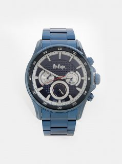 Pánské hodinky s tmavě modrým kovovým páskem Lee Cooper