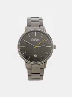 Pánské hodinky s šedým kovovým páskem Lee Cooper