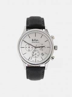 Pánské hodinky s černým koženým páskem Lee Cooper