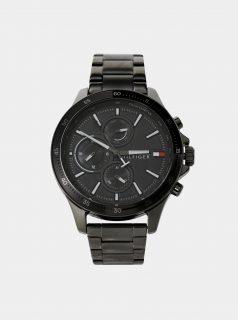 Pánské hodinky s šedým nerezovým páskem Tommy Hilfiger