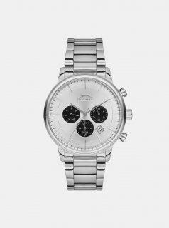 Pánské hodinky s kovovým páskem ve stříbrné barvě Slazenger