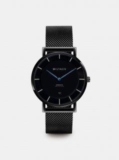 Pánské hodinky s černým nerezovým páskem Millner Regents