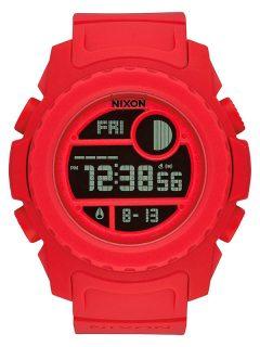 Nixon SUPER UNIT ALLRED pánské hodinky digitální – červená
