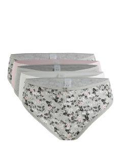 Sada pěti kalhotek v šedé, světle růžové a bílé barvě M&Co