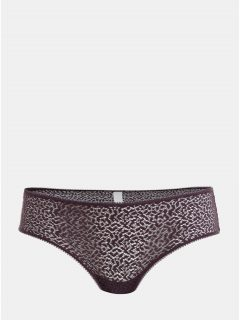 Fialové krajkové kalhotky DKNY