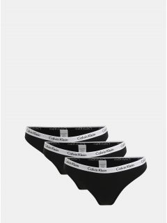Sada tří kalhotek v černé barvě Calvin Klein Underwear