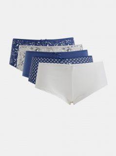 Sada pěti kalhotek v modré, šedé a bílé barvě M&Co