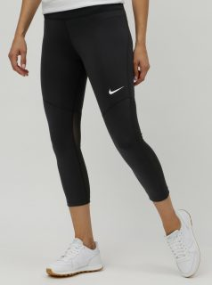 Černé dámské legíny s průsvitnými detaily Nike Fly Victory
