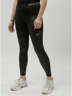 0d650cacd78 Černé funkční legíny s puntíky ve zlaté barvě Nike