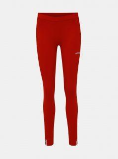 Červené dámské legíny s výšivkou adidas Originals Coeeze