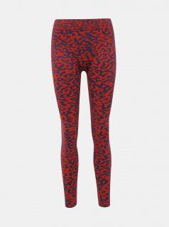 Červené legíny s leopardním vzorem Pompea Ema