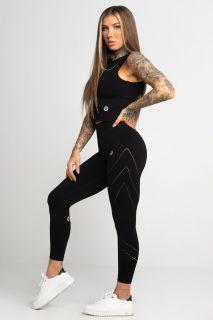 Legíny Gym Glamour Asymetrické Black