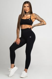 Legíny Gym Glamour Bezešvé Second Skin Dark Grey