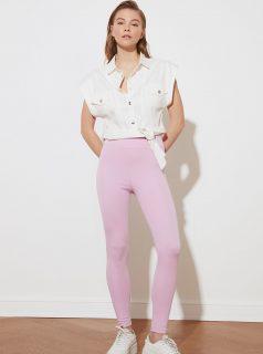 Růžové dámské legíny Trendyol