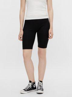 Černé krátké legíny Pieces Taya Biker shorts