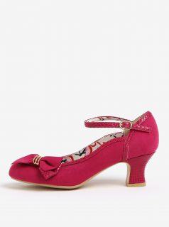 Růžové lodičky v semišové úpravě Ruby Shoo Cordelia
