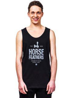 Horsefeathers SPIGOT black pánská tílko – černá