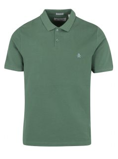 Zelené slim fit polo tričko s krátkým rukávem Original Penguin Raised Rib
