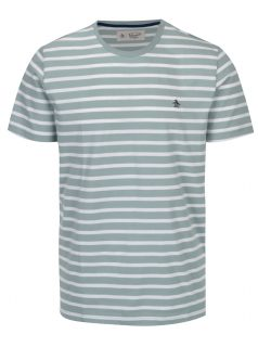 Zeleno-bílé pruhované tričko Original Penguin
