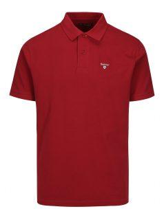 Vínové polo tričko s výšivkou Barbour Sports