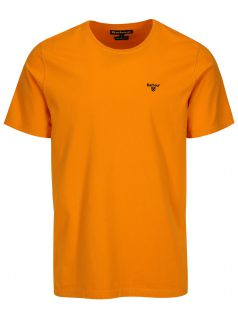 Oranžové tailored fit tričko Barbour Sports Tee