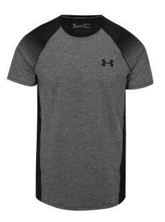 Černo-šedé  pánské žíhané funkční tričko Under Armour