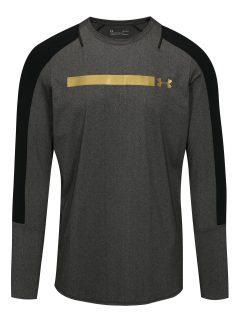 Černo-šedé pánské žíhané funkční tričko Under Armour Perpetual