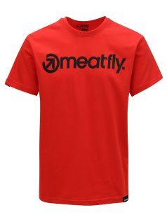 Červené pánské tričko MEATFLY Logo