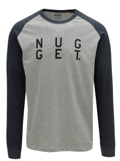 Modro-šedé pánské tričko s potiskem NUGGET Complex