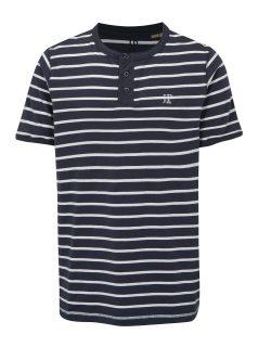 Bílo-modré pruhované tričko s knoflíčky JP 1880