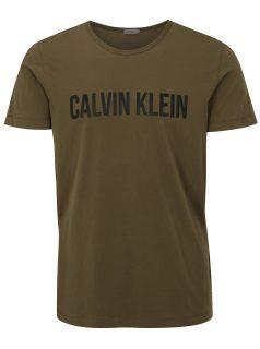 Khaki pánské tričko s potiskem Calvin Klein Jeans Tao