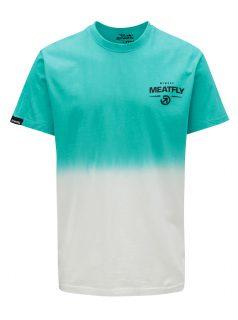 Bílo-tyrkysové pánské tričko MEATFLY Spill