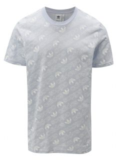Světle modré pánské tričko s potiskem adidas Originals