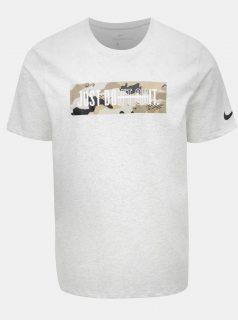 Světle šedé pánské žíhané tričko Nike