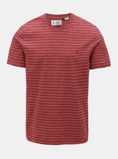 Červené žíhané tričko s pruhy Original Penguin Allover Jacquard