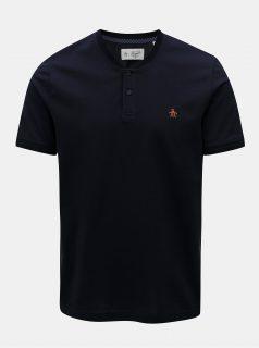 Tmavě  modré tričko s knoflíky Original Penguin Mercerized pique
