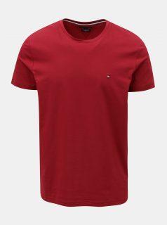 Vínové pánské slim fit tričko Tommy Hilfiger Tee